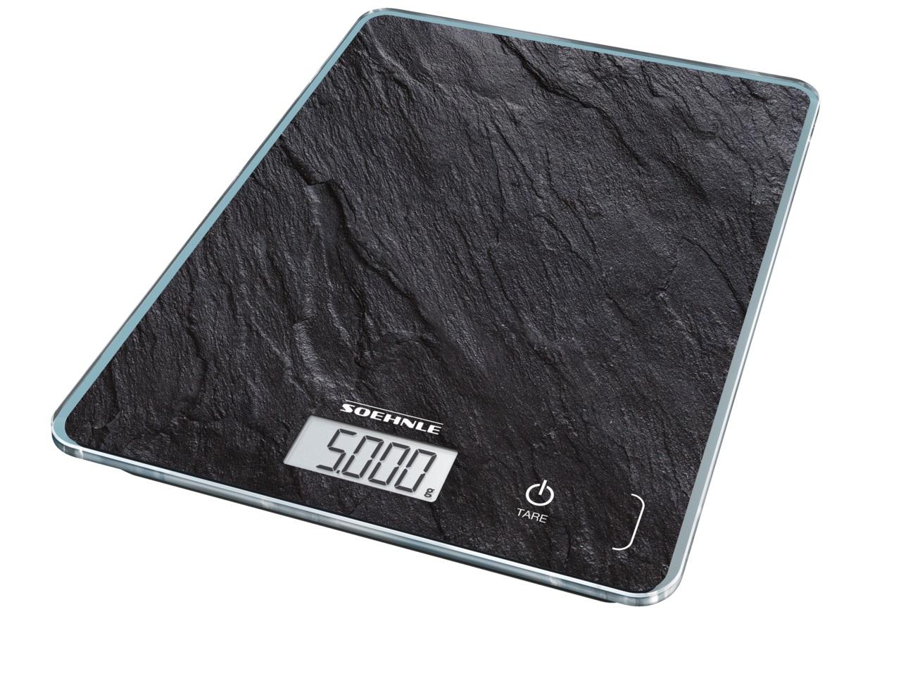 Soehnle Digitální kuchyňská váha Page Compact 300 - motiv břidlice 61515